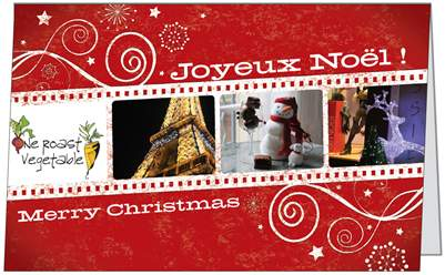 Day 2 Gift . Christmas Card from France